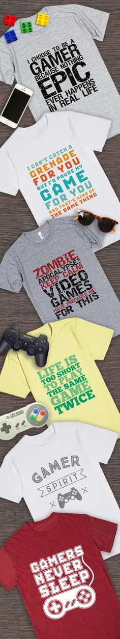Funny and cool t-shirt for geek and gamer. Gift ideas for those who love gaming and video games nerds.