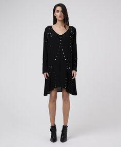 SIREN JET BLACK DRESS - New In - Womens - £80