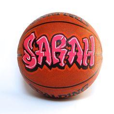 Custom basketball personalized basketball painted with graffiti basketball personalized with simple graffiti for by tjartworks negle Choice Image