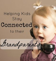 It can be really hard to help young kids feel close to their grandparents when they live far away. I love these tips! Especially #4!