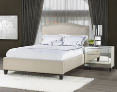 Transitional Single Studded Platform Bed   Arrow Furniture   Price Unknown