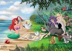 My two Favorite Disney Princesses GIFT FOR A FRIEND 15 by FERNL.deviantart.com on @deviantART