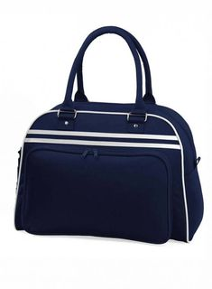 Priestranná retro taška Sleeping Tent, Bowling Bags, Cloth Bags, Navy And White, Backpacking, Retro Fashion, Perfect Fit, Gym Bag, French