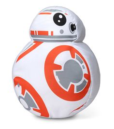 Instead of whirring around and careening off of things, this little Star Wars BB-8 Throw Pillow is happy to sit quietly on your couch and watch episodes I-VI with you.
