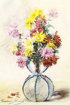 Vase of Chrysanthemums Madeleine Jeanne Lemaire
