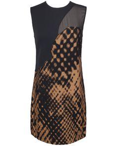 3.1 Phillip Lim Disintegrating Patchwork Sleeveless Dress