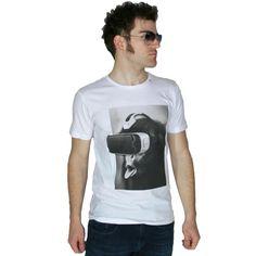b15025a568ae REPLAY Ανδρική λευκή κοντομάνικη slim fit μπλούζα Μ3263