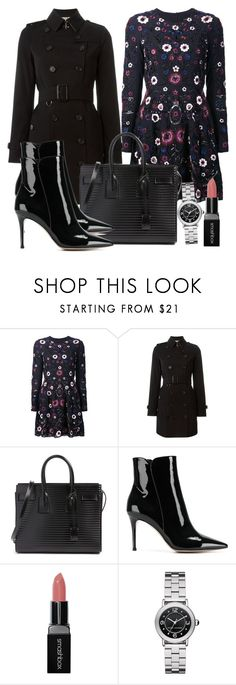 """""""Untitled #4822"""" by beatrizvilar on Polyvore featuring Needle & Thread, Burberry, Yves Saint Laurent, Gianvito Rossi, Smashbox and Marc Jacobs"""