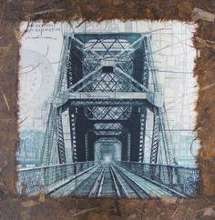 Memphis Train Bridge collage. $60.00, via Etsy.