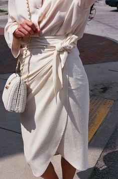 Na Nin Raw Silk Bobbie Wrap Skirt / Available in Multiple Colors – NA NIN