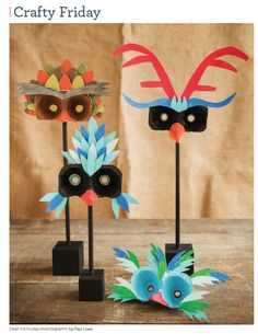 Cute fall masks for any fall party.  Image of Sweet Paul #18 - Fall 2014