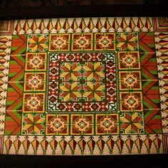 #Traditional #Handmade #cross #stitch #tray