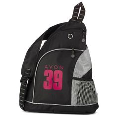 "Keep all of your walk essentials nearby with this cross-body sling bag. Featuring two zippered compartments, and mesh water bottle pocket, this bag is great for anyone who likes to be prepared but ""hands free"" on the road to 39. Net proceeds go to the Avon Breast Cancer Crusade. Regularly $25.00, buy Avon Fashion products online at http://eseagren.avonrepresentative.com"