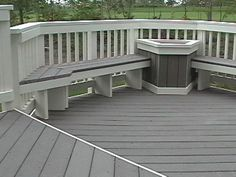 deck seating ideas | ... Composite Decking, Composite Deck Material, composite deck, trex deck