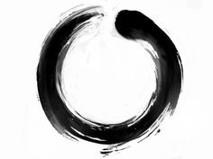 enso zen symbol. absolute enlightenment. strength. elegance. the universe. the void.