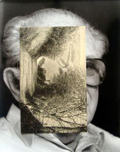 John Stezaker    Old Mask VI    2006  Collage  24.5 x 19.5 cm