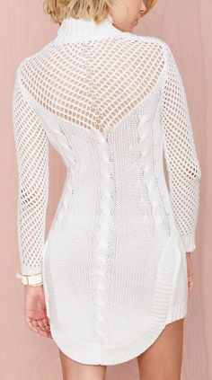 Sweater dress ♪ ♪ ... #inspiration #diy GB http://www.pinterest.com/gigibrazil/boards/: