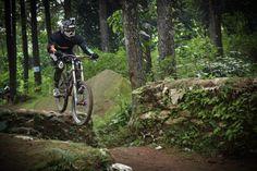 First drop at #sebex #downhill park #bogor