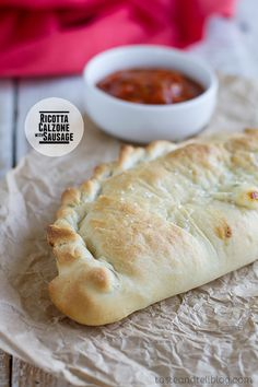 Ricotta Calzones with Sausage on Taste and Tell