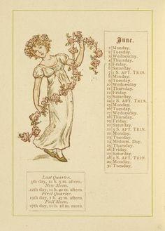 June - Kate Greenaway's Almanack for 1885