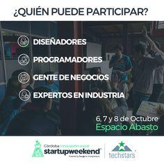quien puede participar en startup weekend