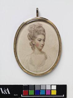 Miniature portrait, c.1760, VandA P.36-1984