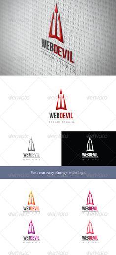 WebDevil - Logo Design Template Vector #logotype Download it here: http://graphicriver.net/item/webdevil/3317339?s_rank=909?ref=nesto