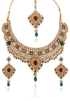 Polki Work Necklace Set With Mangteeka #MyYDHDLook