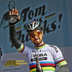 Peter Sagan on the podium during the Tom Says Thanks cycling race @bettiniphoto