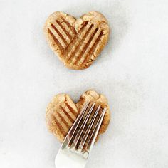 How to make heart shaped peanut butter cookies (that happen to be gluten free and vegan, you'll never know!)
