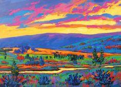 Schilderijen uit het fauvisme. Niet realistische kleuren, en kleur is het belangrijkste aan het schilderij.
