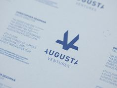 Smart monogram by @MovingBrands for Augusta Ventures :: http://www.movingbrands.com/work/augusta #typography #design #branding