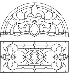 Dover Publications Sample Doorways Windows Transoms Stained Glass Pattern Book