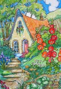 Alida Akers' Storybook Cottage Series - Garden Living