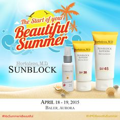 Our Summer is Beautiful booth will be in Baler, Aurora this weekend. We'll be more than happy if you can visit us for free samples and other giveaways! #hbcSummerisBeautiful #HMDBeautifulSummer
