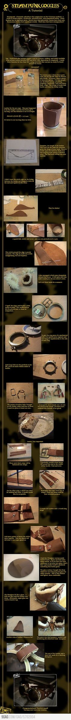make your own Victorian steam punk goggles