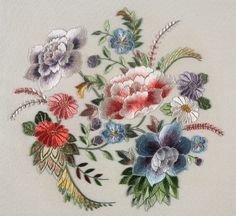 High-class Silk Embroidery Thread of 30 Colors Japan Import) - Embroidery Design Guide Jacobean Embroidery, Chinese Embroidery, Crewel Embroidery, Ribbon Embroidery, Embroidery Stitches, Embroidery Patterns, Flower Embroidery Designs, Machine Embroidery Designs, Hobby Design