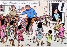 Tintin en el Tibet - Caballos