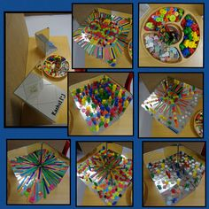 "Patterns on the homemade mirror boxes from Rachel ("",)"