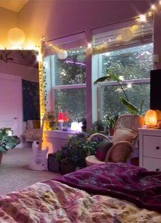 Diy Projects For Bedroom, Room Ideas Bedroom, Bedroom Inspo, Cute Room Ideas, Cute Room Decor, Chill Room, Cozy Room, Dream Rooms, Dream Bedroom