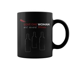 Wine love woman  love one woman and several wines