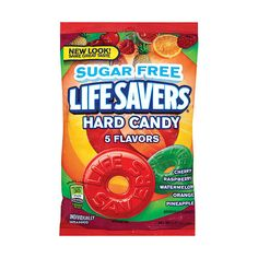 Life Savers 5 Flavor Sugar Free Candy, 2.75 oz ($1) ❤ liked on Polyvore featuring food, candies and food and drink