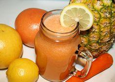 The 'Digestion-Helper' Juice | Reboot With Joe INGREDIENTS: 1/4 pineapple 1 yellow grapefruit 1 ruby grapefruit 1 lemon 1 carrot