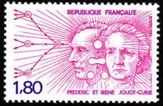 Joliot-Curie, Frédéric and Irène Frederic, Marie Curie, Nobel Prize, Tampons, Stamp Collecting, Postage Stamps, Irene, Famous People, Scientists
