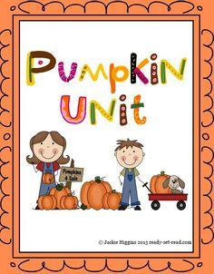 Pumpkin unit for Prek to grade 1. Pumpkin poems, pumpkin crafts, printable early reader books, math activities with pumpkins, pumpkin lifecycle activity and craft! Hands on fun! $