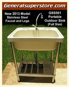 Portable Outdoor Sink Garden Camp Camping RV Kitchen Remodel must-have for sale online Outdoor Kitchens For Sale, Outdoor Kitchen Cabinets, Kitchen Tips, Simple Outdoor Kitchen, Kitchen Island, Kitchen Ideas, Narrow Kitchen, Kitchen Pictures, Ikea Kitchen
