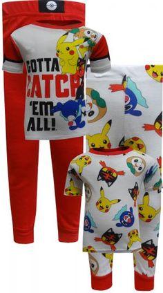 eec4eb9cb5 WebUndies.com Pokemon Pikachu and Friends Gotta Catch  Em All Pajamas  Favorite Cartoon Character