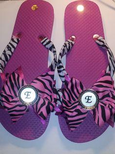 Decorated flip flops - $15