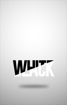 Typography logo - white and black. showing two messages at the same time.