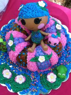 lalaloopsy cake (on inner tube at the lake)